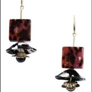 A2k Exotic Cube Dangle Earrings Glass & Resin